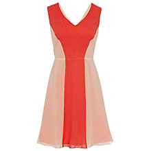 Buy Reiss Colour Block Dress, Nude Online at johnlewis.com