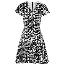 Buy Reiss Myrtle Zebra Day Dress, Multi Online at johnlewis.com