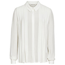 Buy Reiss Pleated Shirt, Off White Online at johnlewis.com