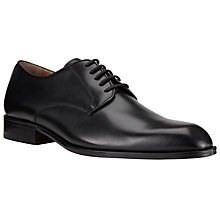 Buy John Lewis Harrison Leather Derby Shoes, Black Online at johnlewis.com
