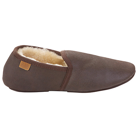 Buy Just Sheepskin Garrick Distressed Leather Slippers Online at johnlewis.com