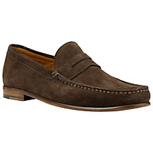 Buy John Lewis Lloyd Suede Penny Loafers, Chocolate Online at johnlewis.com