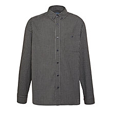Buy John Lewis Melange Check Shirt, Grey Online at johnlewis.com