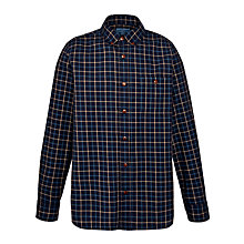Buy John Lewis European Two-Tone Check Shirt, Navy Online at johnlewis.com