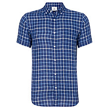 Buy John Lewis Dark Check Linen Shirt Online at johnlewis.com