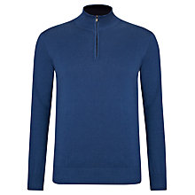 Buy John Lewis Made in Italy Cotton Cashmere 1/2 Zip Jumper Online at johnlewis.com