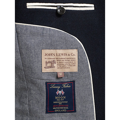 Buy JOHN LEWIS & Co. Abraham Moon Vintage Knit Blazer, Navy Online at johnlewis.com