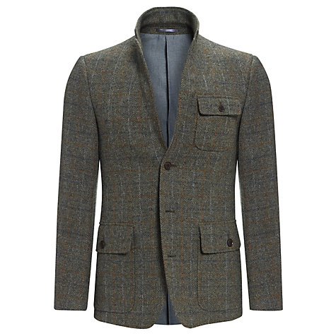 Buy JOHN LEWIS & Co. Harris Tweed Vintage Check Blazer, Green Online at johnlewis.com