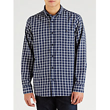 Buy John Lewis Melange Check Long Sleeve Shirt, Blue Online at johnlewis.com