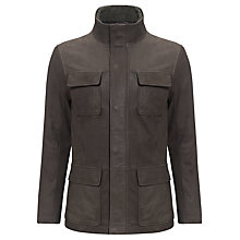 Buy John Lewis 2 in 1 Borg Collar 4 Pocket Leather Jacket, Brown Online at johnlewis.com