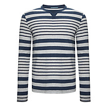 Buy Kin by John Lewis Long Sleeve Yarn Dye Stripe Crew Neck Top Online at johnlewis.com