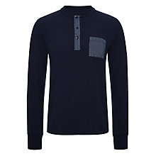 Buy Joe Casely-Hayford for John Lewis Plain Long Sleeve Garment Dye Henley Top Online at johnlewis.com