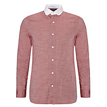 Buy JOHN LEWIS & Co. Contrast Penny Collar Oxford Shirt, Red Online at johnlewis.com