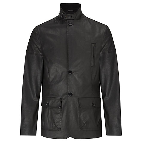 Buy Joe Casely-Hayford for John Lewis Waxed Motor Cross Jacket, Black Online at johnlewis.com