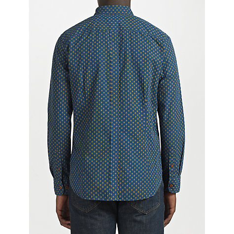Buy JOHN LEWIS & Co. Tableau Cube Print Long Sleeve Shirt, Petrol Online at johnlewis.com