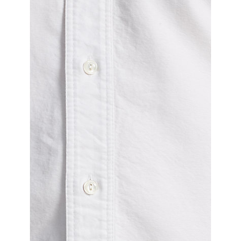 Buy JOHN LEWIS & Co. Penny Collar Long Sleeve Shirt, White Online at johnlewis.com