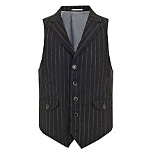 Buy JOHN LEWIS & Co. Abraham Moon Chalk Stripe Waistcoat Online at johnlewis.com