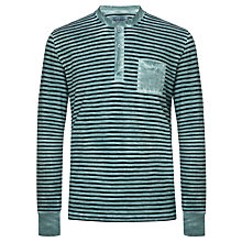 Buy Joe Casely-Hayford for John Lewis Stripe Long Sleeve Garment Dye Henley Top Online at johnlewis.com