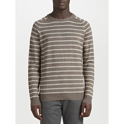 Buy Kin by John Lewis Merino Blend Stripe Crew Neck Jumper Online at johnlewis.com