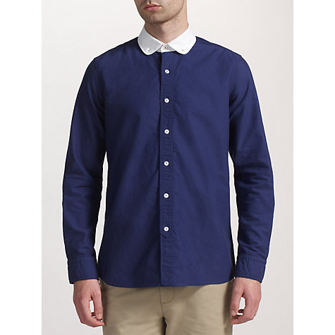 Buy JOHN LEWIS & Co. Contrast Penny Collar Long Sleeve Shirt Online at johnlewis.com
