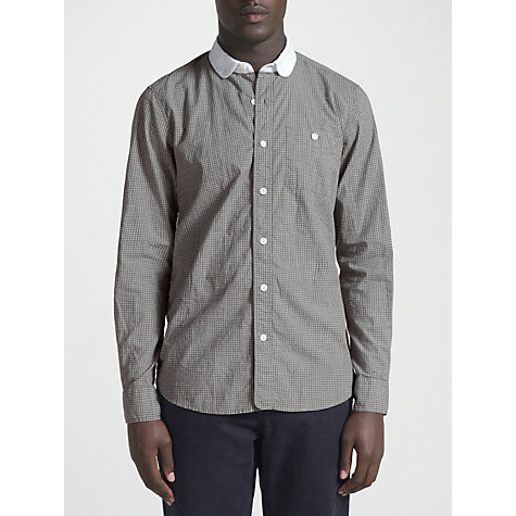 Buy JOHN LEWIS & Co. Penny Collar Vintage Check Long Sleeve Shirt, Taupe Online at johnlewis.com