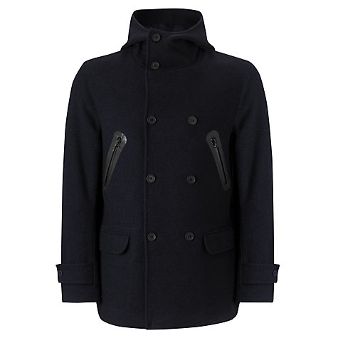 Buy Joe Casely-Hayford for John Lewis Hooded Peacoat, Dark Navy Online at johnlewis.com