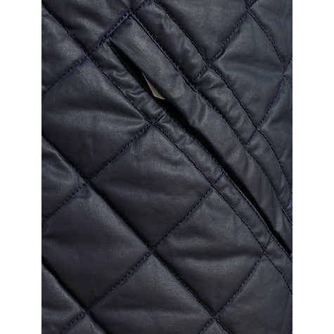 Buy JOHN LEWIS & Co. Harvey Quilted Coated Jacket, Dark Navy Online at johnlewis.com