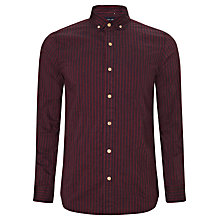Buy JOHN LEWIS & Co. Textured Penny Collar Stripe Shirt Online at johnlewis.com