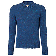 Buy JOHN LEWIS & Co. Made in England Donegal V-Neck Jumper, Cobalt Blue Online at johnlewis.com