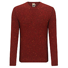 Buy JOHN LEWIS & Co. Made in England Donegal Crew Neck Jumper, Red Online at johnlewis.com