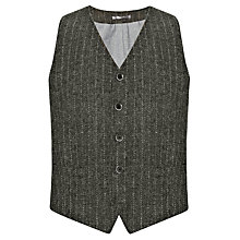 Buy JOHN LEWIS & Co. Harris Tweed Chalk Stripe Waistcoat, Taupe Online at johnlewis.com