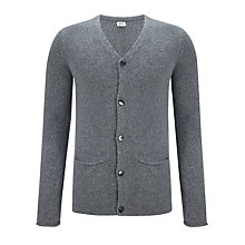 Buy Kin by John Lewis Roll Edge Angora Cashmere Cardigan, Grey Online at johnlewis.com