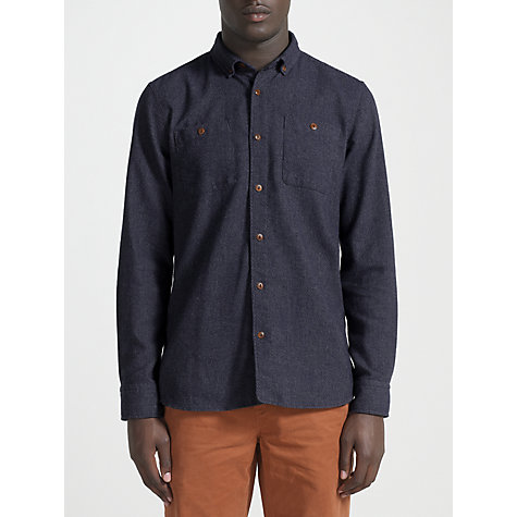 Buy JOHN LEWIS & Co. Recycled Tuck Stitched Flannel Long Sleeve Shirt Online at johnlewis.com