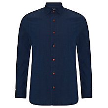 Buy JOHN LEWIS & Co. Ditsy Penny Collar Shirt, Indigo Online at johnlewis.com