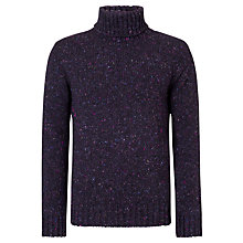 Buy JOHN LEWIS & Co. Made in England Donegal Roll Neck Jumper, Purple Online at johnlewis.com