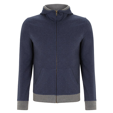 Buy Kin by John Lewis Funnel Neck Hoodie, Navy Online at johnlewis.com