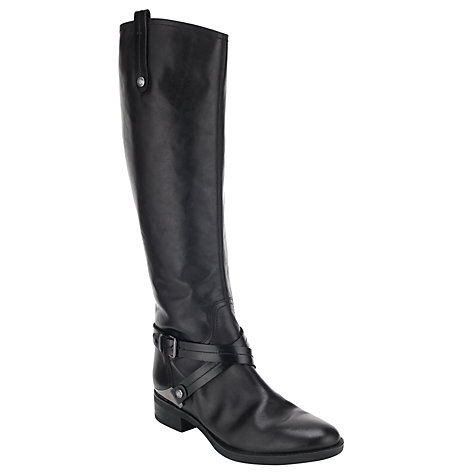 Buy Geox Felicity Knee Boots, Black Online at johnlewis.com