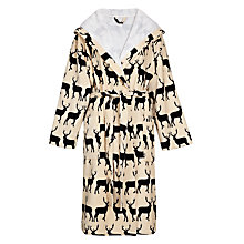 Buy Anorak Kissing Stags Unisex Bath Robe Online at johnlewis.com