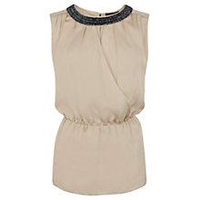 Buy Coast Lorella Wrap Top, Neutral Online at johnlewis.com