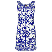 Buy Phase Eight Mariella Dress, White/Cobalt Online at johnlewis.com