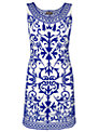 Phase Eight Mariella Dress, White/Cobalt