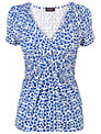 Phase Eight Heart Print Top, Lapis/White