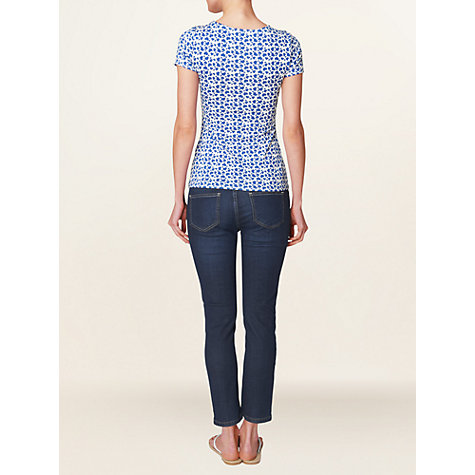 Buy Phase Eight Heart Print Top, Lapis/White Online at johnlewis.com