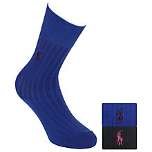 Buy Polo Ralph Lauren Egyptian Cotton Socks, Pack of 2 Online at johnlewis.com