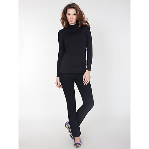 Buy Seraphine Ana Denim Jeans, Black Online at johnlewis.com