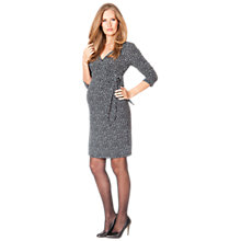 Buy Séraphine Long Sleeved Renata Maternity Dress, Black/White Online at johnlewis.com