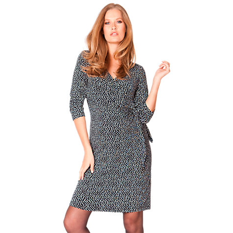 Buy Séraphine Long Sleeved Renata Dress, Black/White Online at johnlewis.com