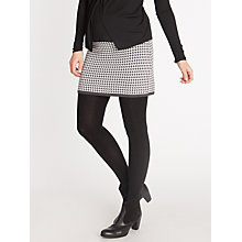 Buy Seraphine Lyra Houndstooth Skirt, Black Online at johnlewis.com