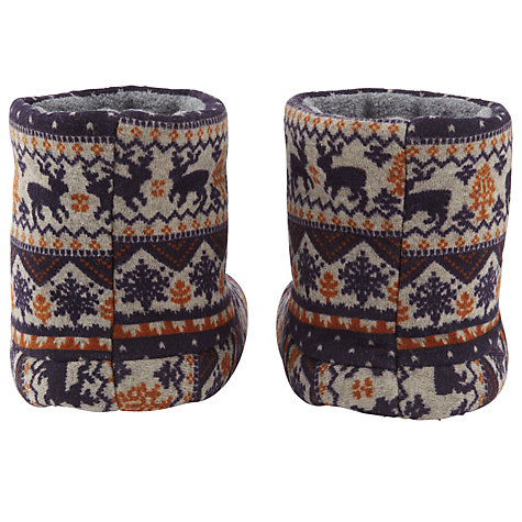 Buy John Lewis Fair Isle Christmas Boot Slippers Online at johnlewis.com