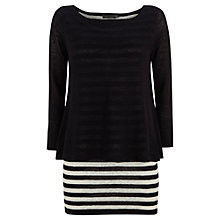 Buy Mint Velvet Layered Jumper, Navy/White Online at johnlewis.com